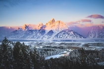 Sunrise in Grand Teton National Park One of the coldest mornings I remember but it was worth it