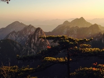 Sunrise in Huangshan China Taken from my phone