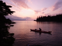 Sunrise in Isle Royale National Park