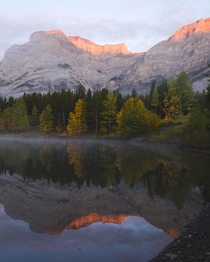 Sunrise in Kananaskis Canada