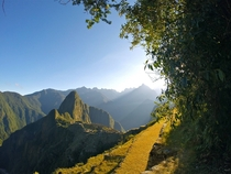Sunrise in Machu Picchu Peru taken by uBlake