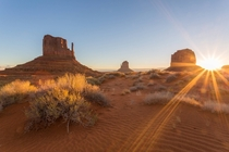 Sunrise in Monument Valley AZ