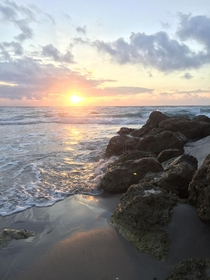 Sunrise in Palm Beach Florida