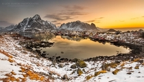 Sunrise in Reine a fishing village in Norway  by Lior Yaakobi