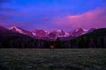 Sunrise in Rocky Mountain NP