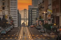 Sunrise in San Francisco  by Stan Pechner
