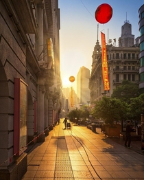 Sunrise in Shanghai China