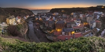 Sunrise in Staithes England