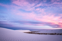 Sunrise in the backcountry of White Sands New Mexico