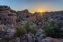 Sunrise in the Granite Dells AZ USA