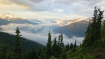 Sunrise in the North Cascades National Park Washington