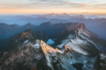 Sunrise in the North Cascades Washington State  photo by Bryan Daugherty