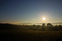 Sunrise in the Yorkshire Dales UK -
