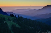 Sunrise Layers - Hurricane Ridge