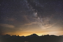 Sunrise Milky Way over Garibaldi Provincial Park BC  X