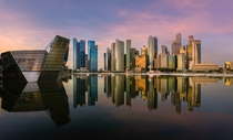 Sunrise on Marina Bay Singapore