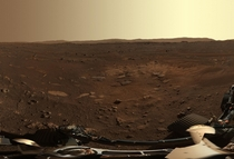 Sunrise on Mars Image Taken by NASAs Perseverance Rover