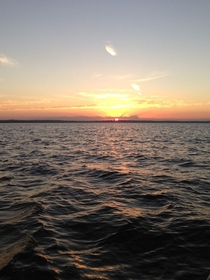 Sunrise on Mobile Bay in Alabama