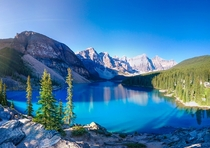 Sunrise on Moraine lake Banff AB Not bad for a phone snap Z panorama Stitch