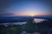 Sunrise on the Arkansas River at Petit Jean SP Arkansas