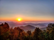 Sunrise on the Blue Ridge Parkway
