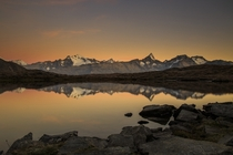 Sunrise over a mountain lake in Goms Switzerland  Photographed by Imhof Patrick