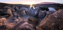 Sunrise over Albertas Hoodoos