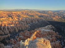 Sunrise over Bryce Amphitheater - Bryce Canyon NP Utah -