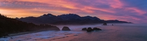 Sunrise over Cannon Beach OR from Ecola State Park in March  Insta AronLorenzPhoto  K Panorama