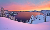 Sunrise over Crater Lake  by Henry Liu