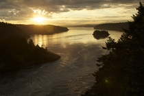 Sunrise over Deception Pass Washington