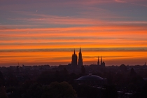 Sunrise over Delft the Netherlands