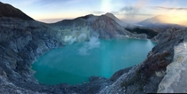 Sunrise over Ijen Crater in East Java Indonesia