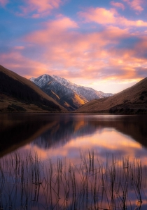 Sunrise over Lake Kirkpatrick Otago New Zealand  by South of Home Photography