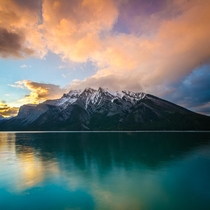 Sunrise over Lake Minnewanka - Banff Alberta Canada Ben Ouyang