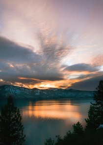 Sunrise over Lake Tahoe at Stateline Shore  -   x