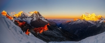 Sunrise over Llanganuco Valley by Eric Hodges - Yanapaccha Cordillera Blanca Peru