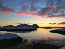 Sunrise over Lofoten Norway Taken using iPhone