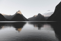 Sunrise over Milford Sound NZ