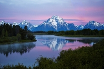 Sunrise over Mount Moran Grand Teton National Park  by Sam Ortega