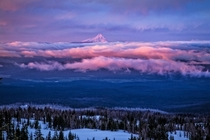Sunrise Over Mt Hood - beautiful northern Oregon  photo by Andreas Leidenfrost