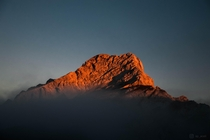 Sunrise over mt Ojstrica Slovenia
