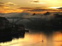 Sunrise over Porto Portugal