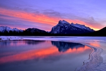 Sunrise over Rundle Mountain by Shuchun Du