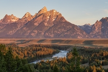 Sunrise over Snake River amp The Grand Teton