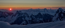 Sunrise over the Alps