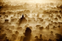 Sunrise over the ancient city of Bagan Myanmar