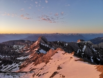 Sunrise over the Appenzell Alps Sntis Switzerland