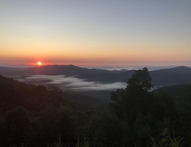 Sunrise over the Blue Ridge Parkway this morning Definitely worth the  hour drive
