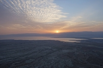 Sunrise over the Dead Sea from Masada Israel